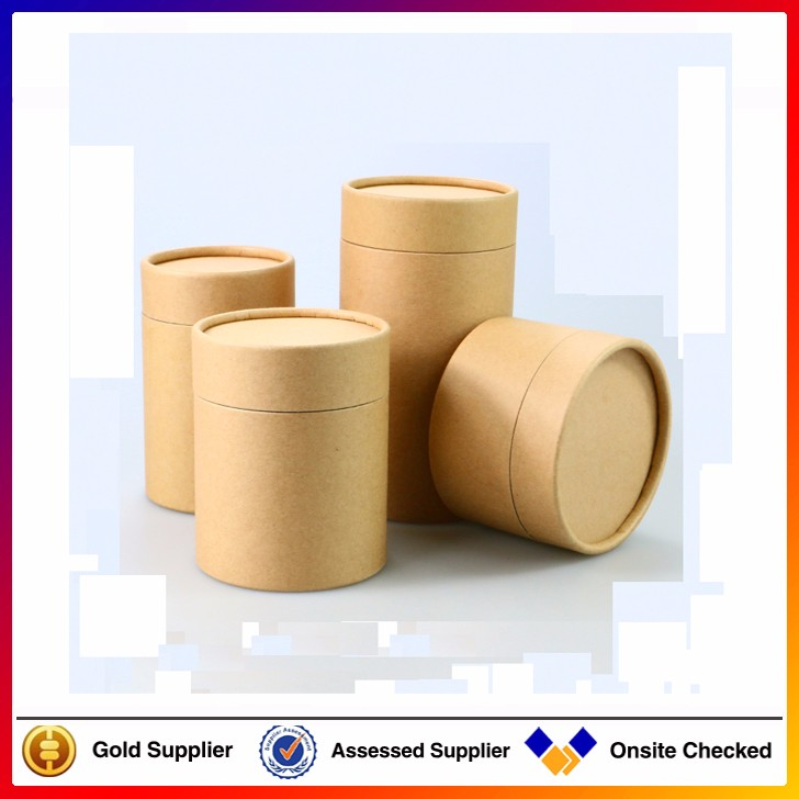 Custom design cardboard craft paper printing gift round for Kraft paper craft tubes