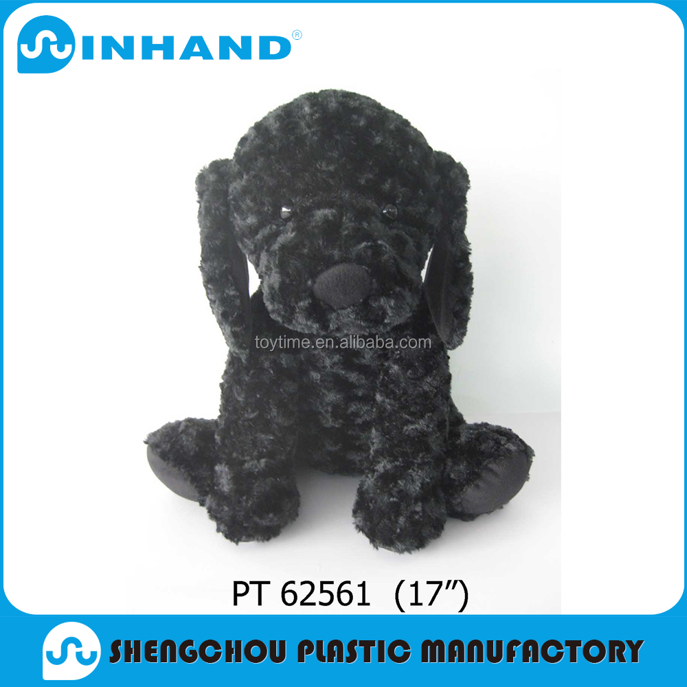 Factory Price OEM Accepted Cheap Small Plush Black Toy Dog