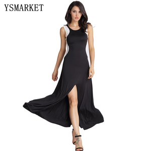 New Fashion Sexy Style Hollow Out Dress Ankle-length Europe And United States Black Sleeveless Splicing Dresses