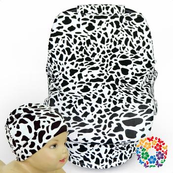 Groovy Black White Cow Print Nursing Cover Baby Car Seat Cover With Matching Newborn Beanie Hat Buy Car Seat Cover Black And White Car Seat Cover Black And Frankydiablos Diy Chair Ideas Frankydiabloscom