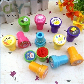 Custom lovely Kids Toy Plastic Stamp plastic shiny stamp Kids Cute Toy Stamp Set for promotion