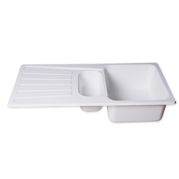 Acrylic Double Bowl Kitchen Sink With