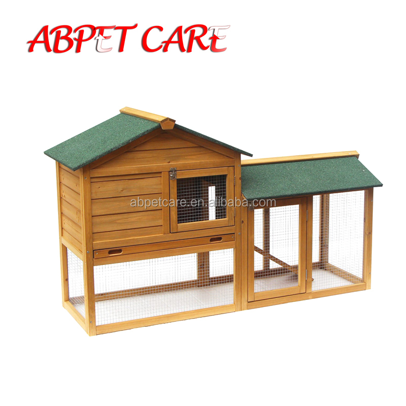 Wooden Chicken Coop Backyard Nest Box Pet Cage Rabbit Hen Hutch