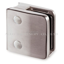 304 316 8-15mm square glass clamp for Railing Project Square Bar Holder Railing Style Clip