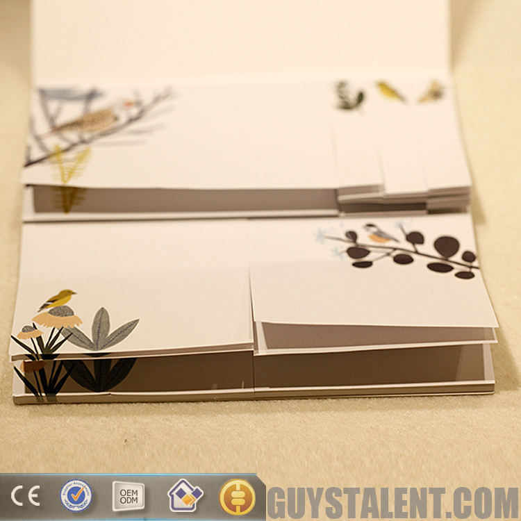 custom size and shape new design popular cute notepad sticky note