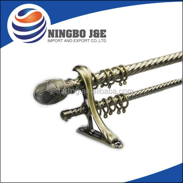 Hot Selling Iron Double Curtain Rod Metal Curtain Rod - Buy ...