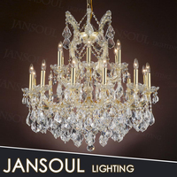 chinese zhongshan factory-outlet large crystal chandelier incandescent pendant light fixture