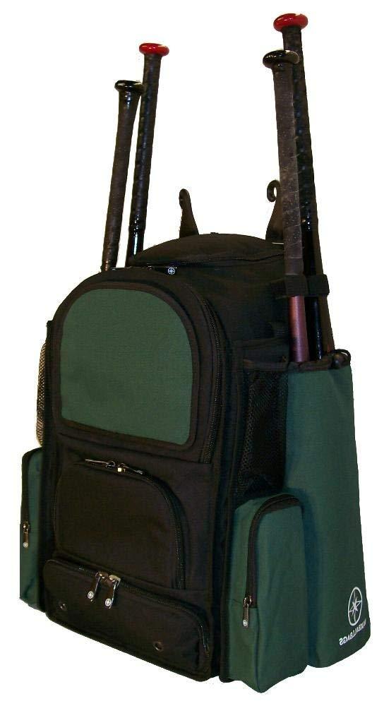 Get Quotations Maxops New Medium Vista M In Black And Dark Green Softball Baseball Bat Equipment Backpack
