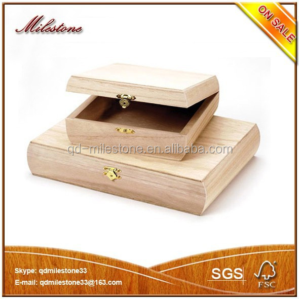 Natural Wood Box Eco-Friendly Packaging Fashionable Crafts Box With A Lock Wood Box