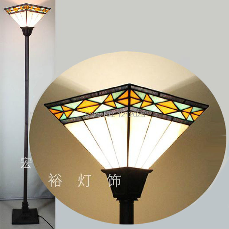 Special Offer Tiffany Stained Glass Square Torchiere Lamp