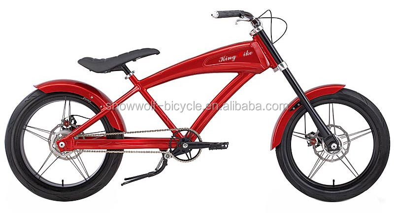 chopper bike m nner chopper beach cruiser fahrrad rot. Black Bedroom Furniture Sets. Home Design Ideas