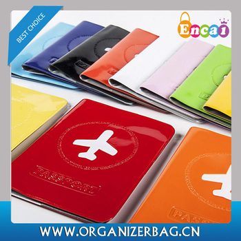 Encai Personalized Travel Pouch Organizer Colorful Passport Holder PVC Enamel Passport Cover