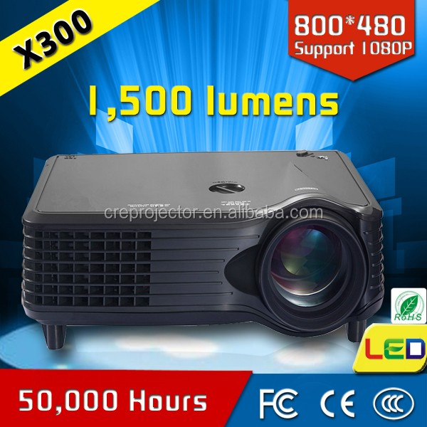 "2016 Updated Full Color Max 200"" Portable Screen Entertainment Home Cinema Theater Multimedia LCD LED Projector 800x480p Optical"