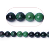Green color natural round ruby-zoisite semi-precious loose stone bead gemstone jewelry wholesale for bisuteria making
