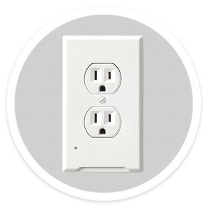 2018 newest wall outlet plate with led night lights best quality