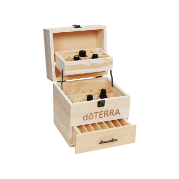 Large capacity wooden essential oil storage box for display