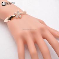 BLB0221 jewelry gold models flower shape 14k charms cz bracelet