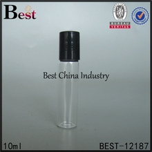 the belt and road 3ml 5ml 8ml 10ml clear glass roll on bottle with stainless steel roller ball