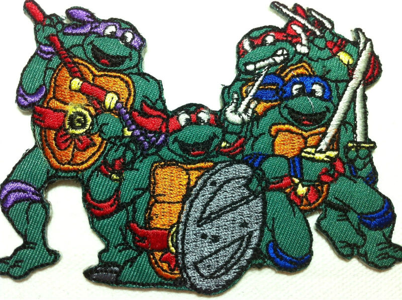 cartoon teenage turtles embroidery patch
