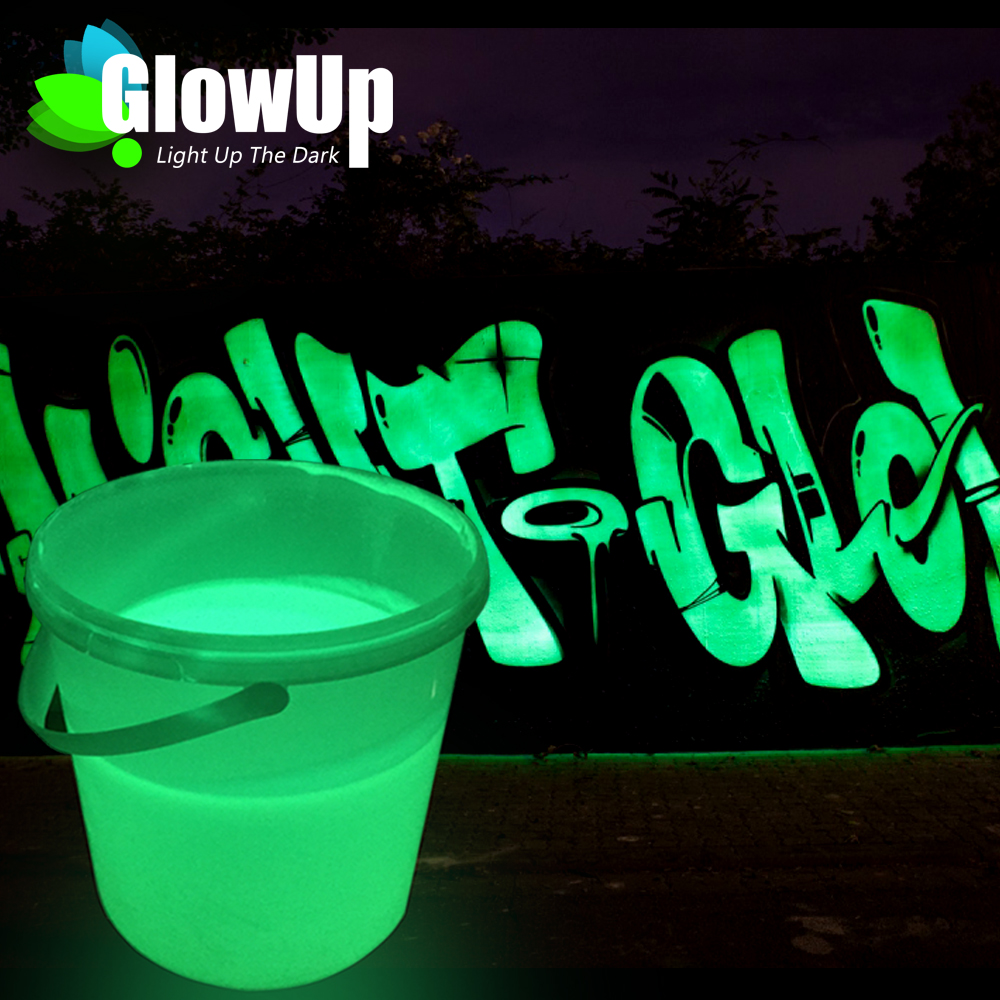 High quality environmental glow in the dark outdoor and indoor paint for brush and spray