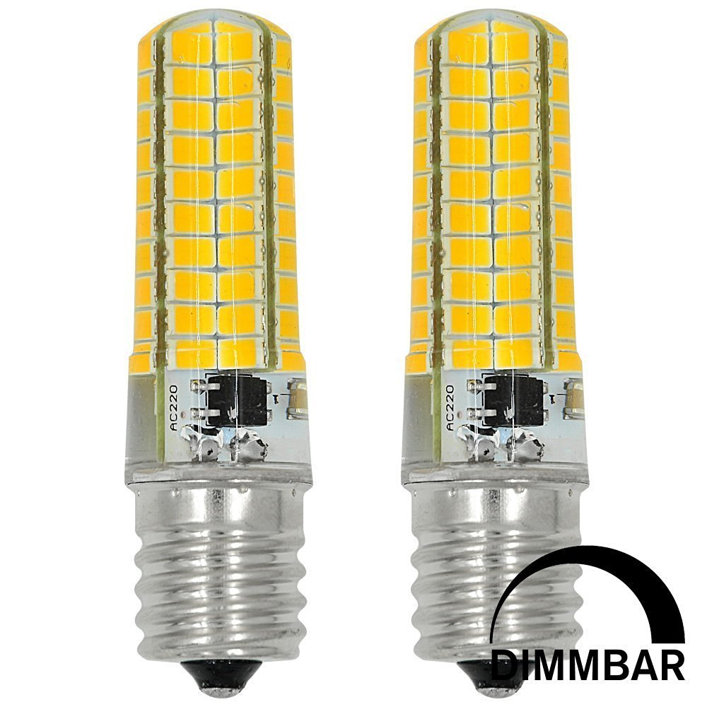 ACCKA 2-Pack MINI E17 LED 6W Dimmable 5730SMD 80-LED Bulbs, Warm White Light, 2800-3000K, 400-420LM, 110V-130V AC