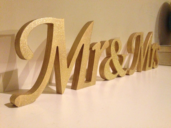 Mr And Mrs Large Wooden Letters: Free Shipping Glitter Mr & Mrs Wedding Letters. Mr And Mrs