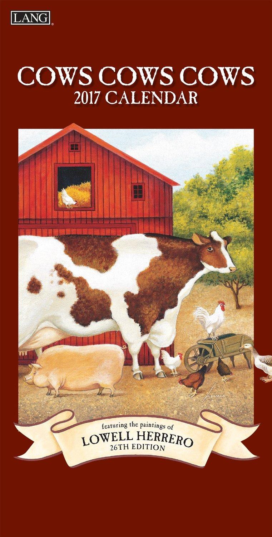 Lang 2017 Cows Cows Cows Vertical Wall Calendar, 7 x 15 inches (17991079129)