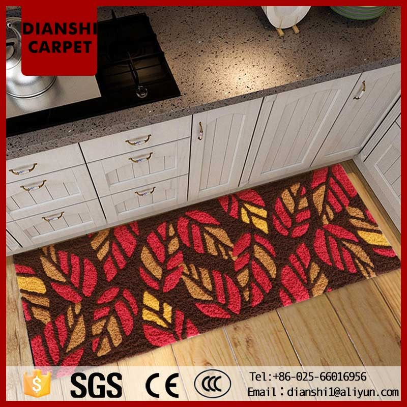 Hand Weaving Kitchen Rug Floral Pattern Wall To Wall Carpet