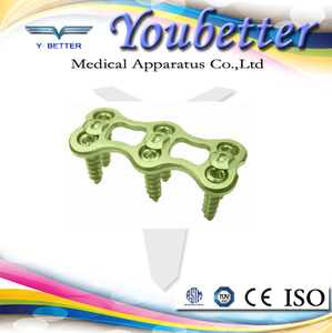 Pure titanium anterior cervical plate used for cervical fixation