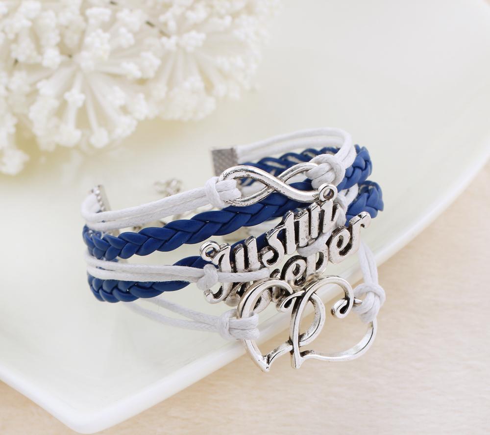 Подвески браслет любовник джастин бибер земля-дружественных сплав полиуретан кожа воск веревка плетёный браслет для женщины