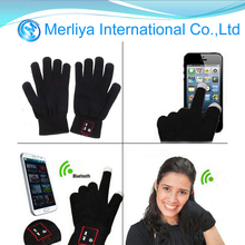 Bluetooth Calling Gloves Touch Screen Mobile Headset Speaker For Andriod iPhone