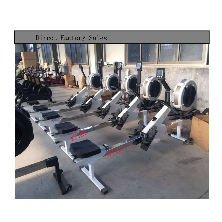 New Arrival Bodybuilding Black Exercise Rowing Air Rower For GYM Club