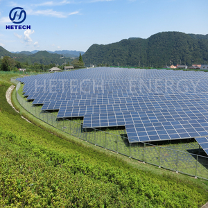 Double glass solar panel 2MW solar power plant grid solar power station EPC