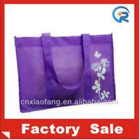 Custom non woven purple bag/resuable shopping bags