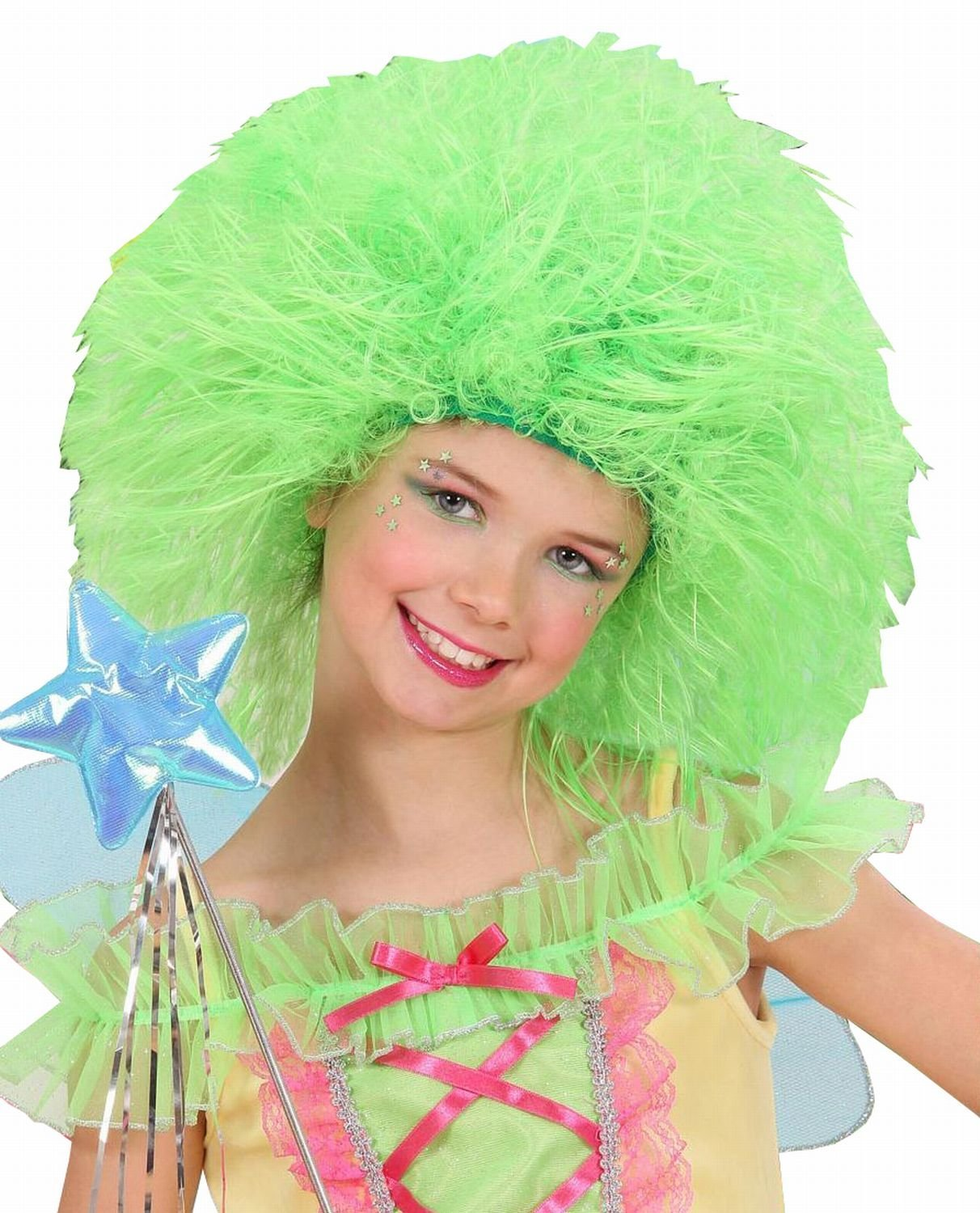 Get Quotations · NEON FAIRY WIG - CHILD SIZE - GREEN  sc 1 st  Alibaba : neon fairy costume  - Germanpascual.Com