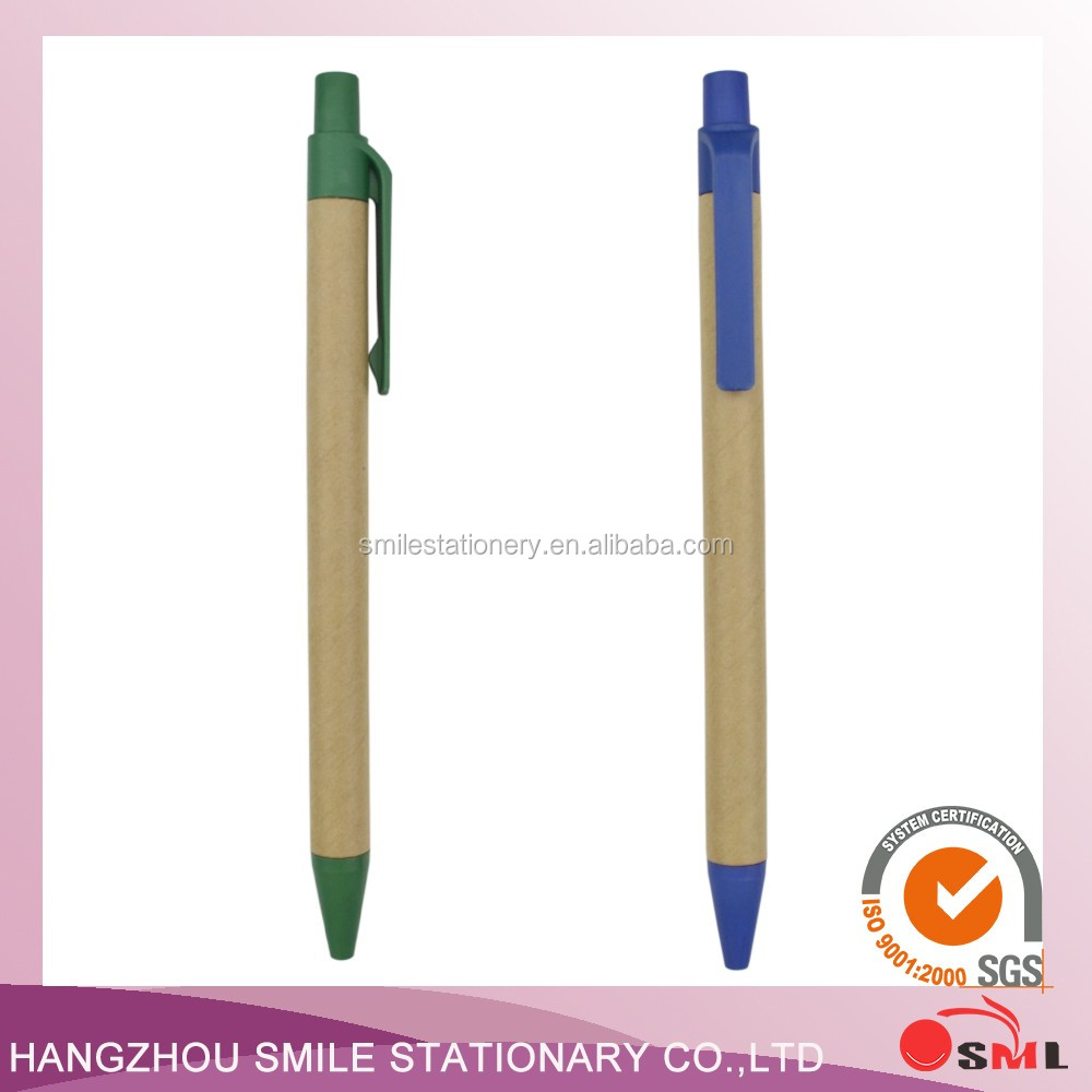 Hot 100% Biodegradable Corn Fiber and paper material Ballpoint Pen