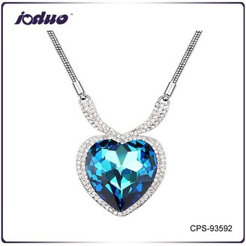 Free Shipping Heart of Ocean Austria Crystal Sweater Chain Necklace
