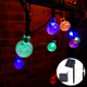 2017 led solar Christmas transparent 25mm bubble ball light garden