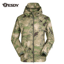 ESDY homme Chasse Extérieure Softshell Tactique <span class=keywords><strong>Imperméable</strong></span> Doublé <span class=keywords><strong>Polaire</strong></span> Vestes