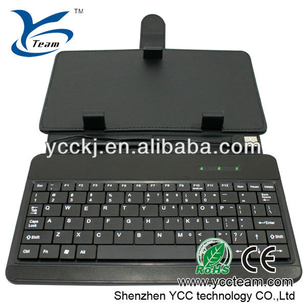 new ! stylus and mini USB smart tablet cover 7 inch tablet pc keyboard/case professional manufacturing competitive price