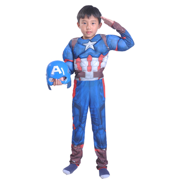 High quality cosplay costumes captain america costume clothes for kids wholesale