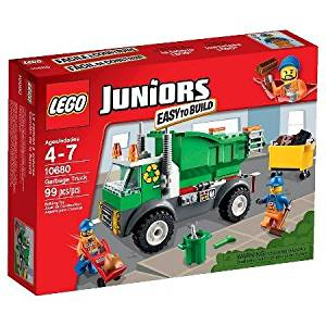 LEGO® Juniors Garbage Truck with Includes 2 Sanitation Worker Minifigures 10680