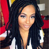 2016 African kinky twist braided full lace wig