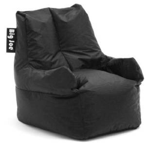 Get Quotations · Big Joe Club 19 Bean Bag Chair Color: Stretch Limo Black