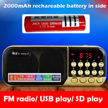 LED Display Mini Pocket FM Radio Digital FM Receiver SD Card/USB Play Directly MP3 Outdoor Kitchen Radio Audio Player