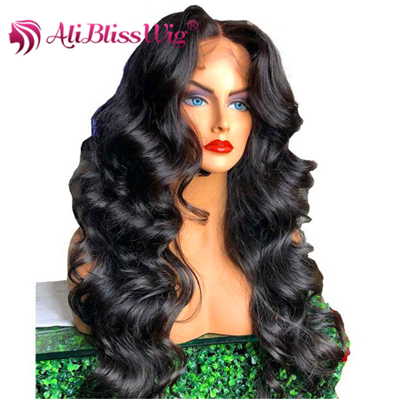 Cuticle Aligned Hair Body Wave 100% virgin human black hair frontal lace wigs фото