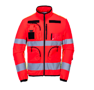 High vi-workwear Latest design hi vi reflective softshell jacket