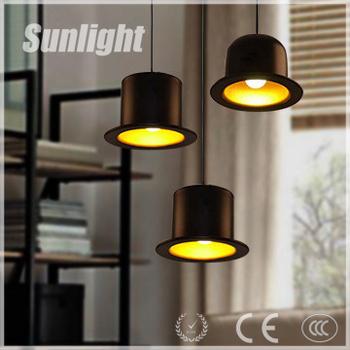 Indoor Industrial Vintage Lamp Retro Gold Inside Modern Metal ...