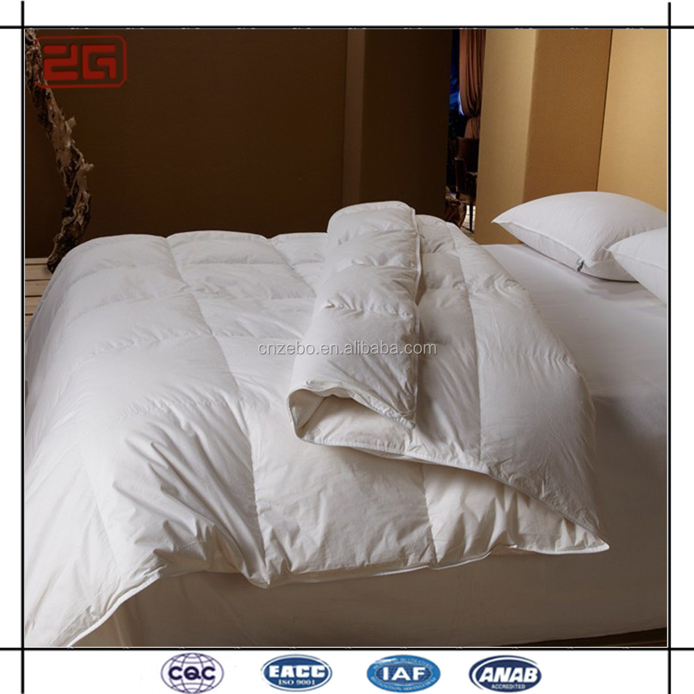 Wholesale Luxury White Goose Down Filling Super King Hotel Comforter