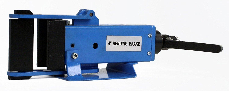 "Erie Tools 4"" Hand Operated Steel Bending Brake & Sheet Metal Form Bender with Pressing Die & Stop Assembly"